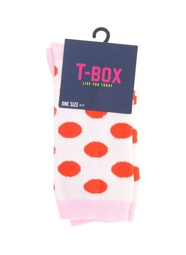T-Box T-Box Puantiyeli Ekru Soket Çorap Ekru